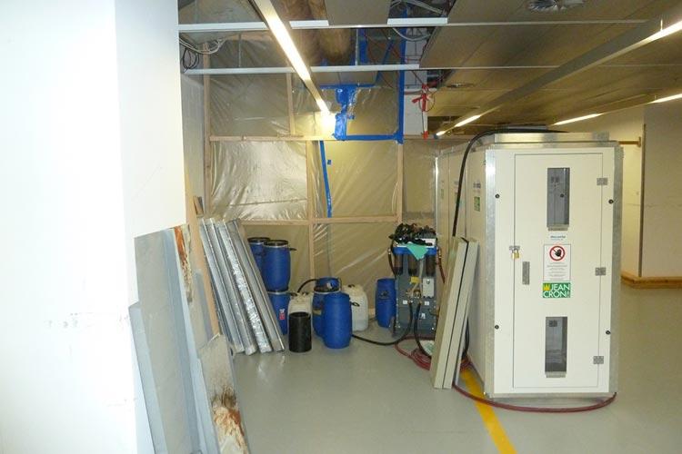 Asbestsanierung auf dem Novartis Campus in Basel