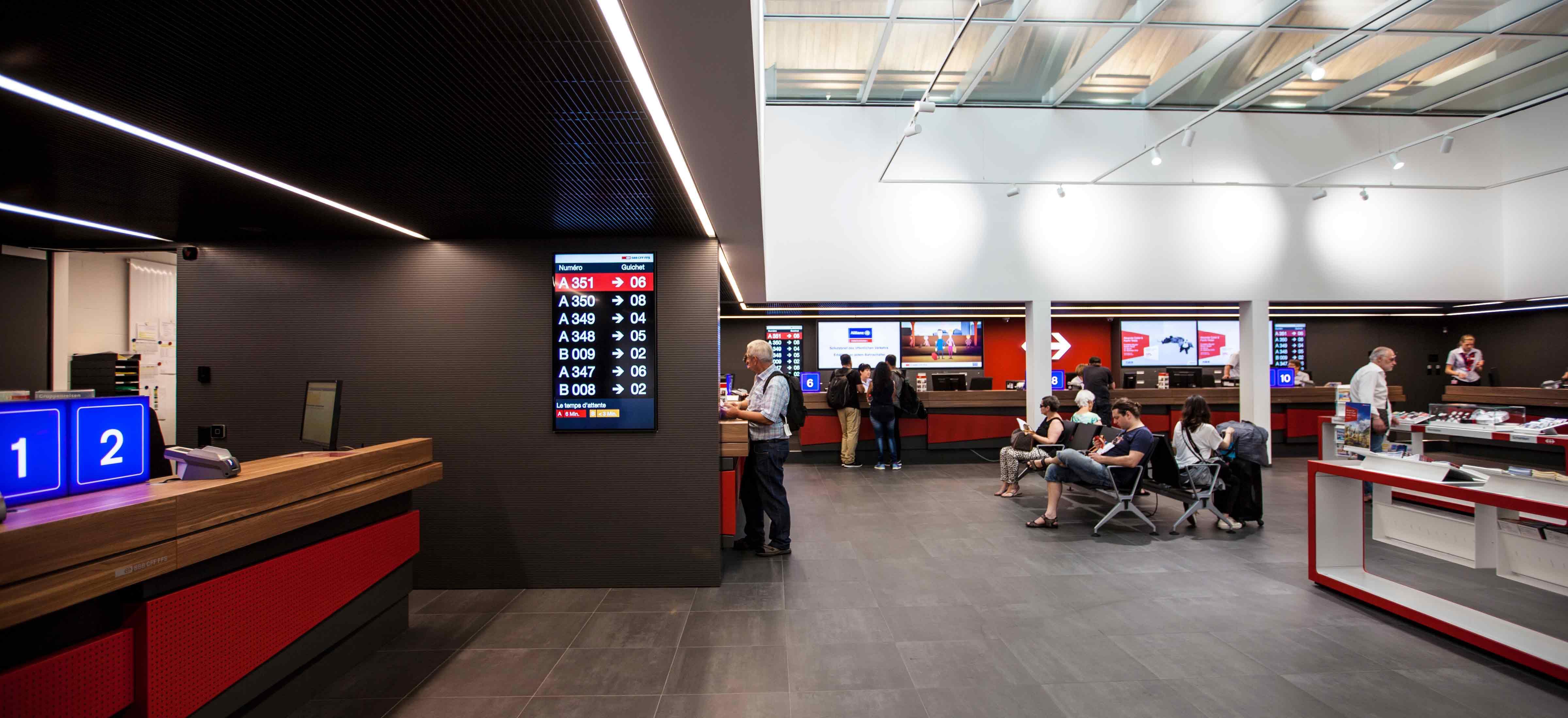 Einbau Reisebüro im Bahnhof Basel SBB